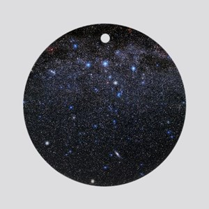 Cassiopeia and Andromeda constellat Round Ornament