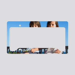 Children eating watermelon License Plate Holder