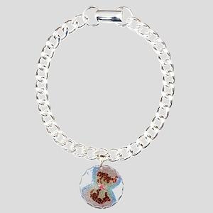 Cell division Charm Bracelet, One Charm