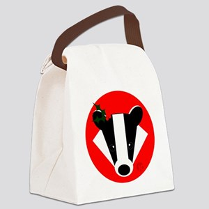 Christmas Badger Face Canvas Lunch Bag
