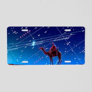 Christmas star as planetary Aluminum License Plate