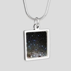 Centaurus and Crux constel Silver Square Necklace