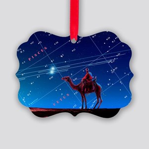 Christmas star as planetary conju Picture Ornament