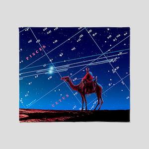Christmas star as planetary conjunct Throw Blanket