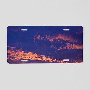 Clouds at sunrise Aluminum License Plate