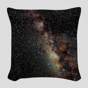 Centre of Milky Way Woven Throw Pillow
