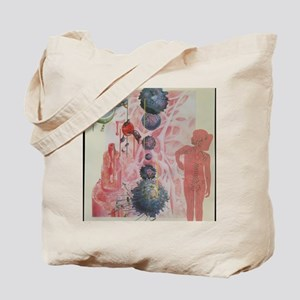 Collage artwork of cells of the immune sy Tote Bag