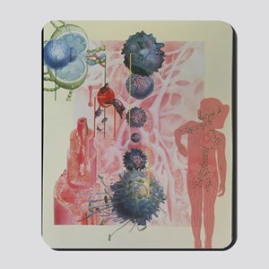 Collage artwork of cells of the immune s Mousepad