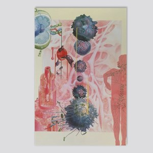 Collage artwork of cells  Postcards (Package of 8)