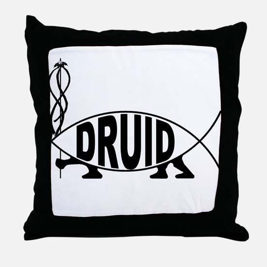 Druid Fish Throw Pillow