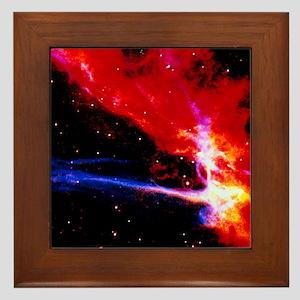 Colour HST image of part of Cygnus Loo Framed Tile