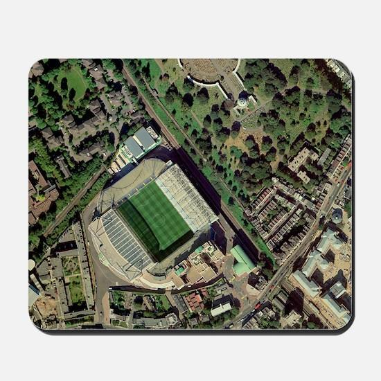 Chelsea's Stamford Bridge stadium, aeria Mousepad