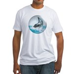 Bubble Dolphin Fitted T-Shirt