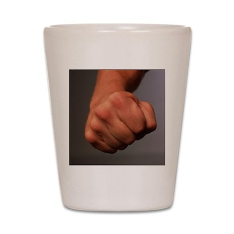 Clenched fist Shot Glass