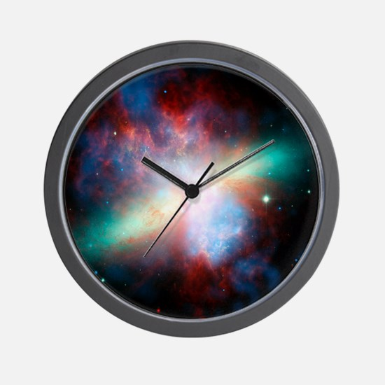 Cigar galaxy (M82), composite image Wall Clock
