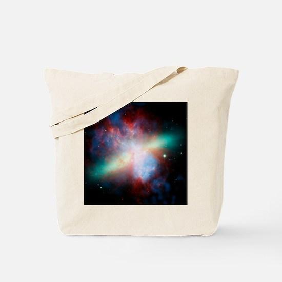 Cigar galaxy (M82), composite image Tote Bag