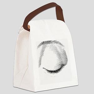 Closed eye Canvas Lunch Bag