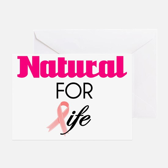 Breast Cancer Natural Survivor Tee Greeting Card