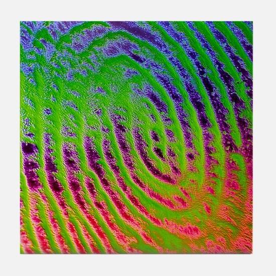 Coloured SEM of details of a human fi Tile Coaster