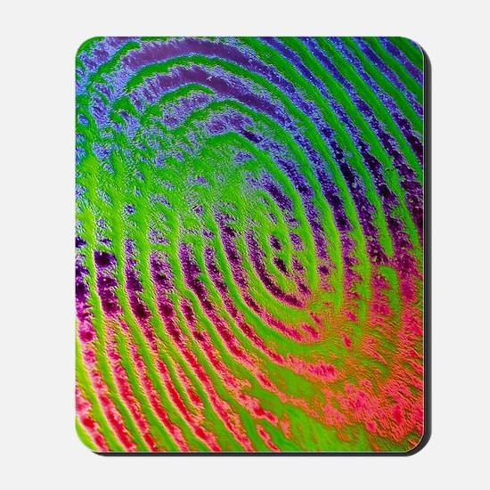 Coloured SEM of details of a human finge Mousepad