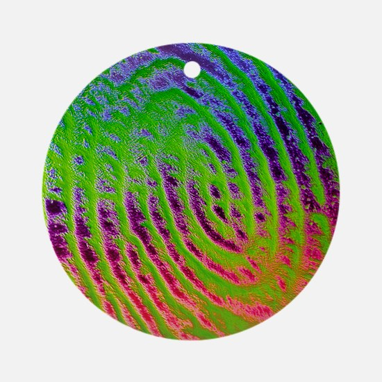 Coloured SEM of details of a human  Round Ornament