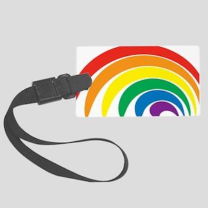 Funky Rainbow Large Luggage Tag