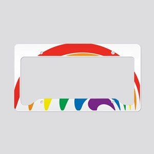 Funky Rainbow License Plate Holder