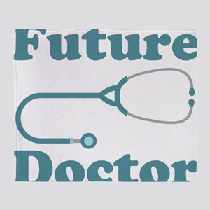 Future Doctor With Stethoscope Throw Blanket