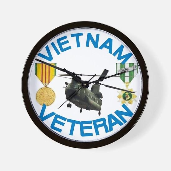 Chinook Vietnam Veteran Wall Clock