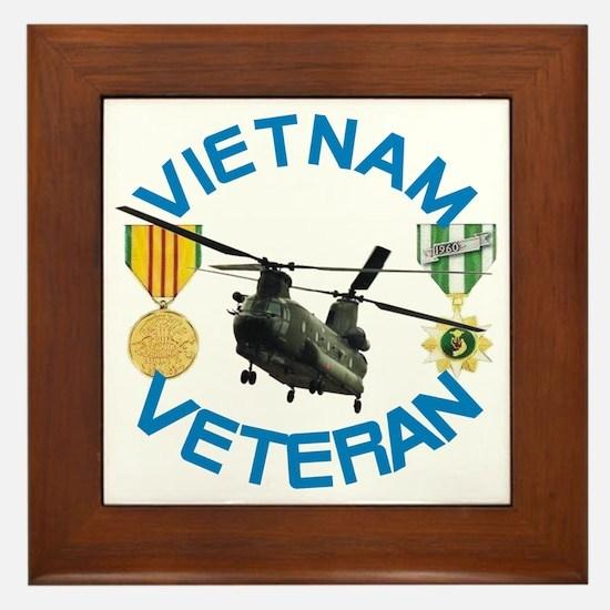 Chinook Vietnam Veteran Framed Tile