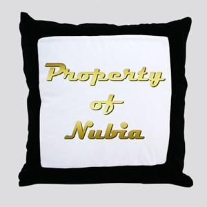 Property Of Nubia Female Throw Pillow