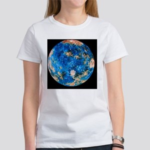 Coloured radar image of Venus hemi Women's T-Shirt