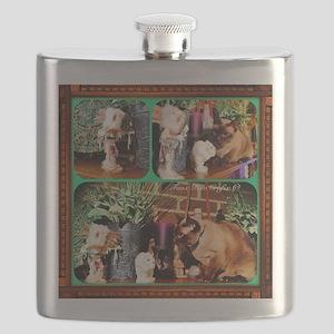 Cat Meets Kachina Triptych Flask