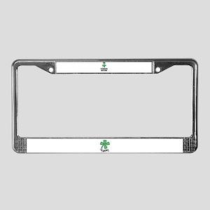 FORTUNATELY BORN IRISH License Plate Frame