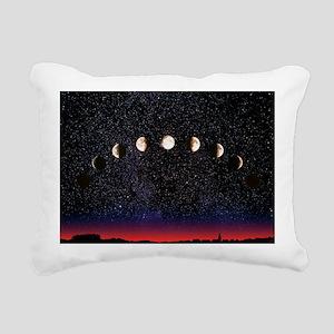 Composite time-lapse ima Rectangular Canvas Pillow