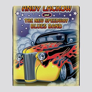 Andy Lackow and The New  Speedway Bl Throw Blanket