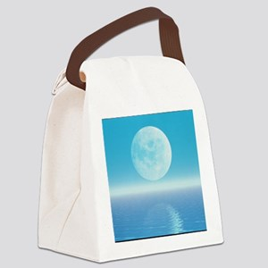 Computer art of Moon over water ( Canvas Lunch Bag