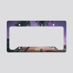 Sailing Through Paradise License Plate Holder