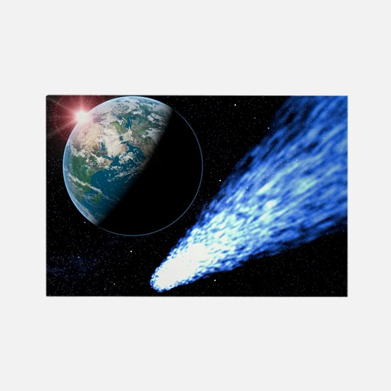 Comet passing near Earth Rectangle Magnet