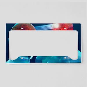 Communication, conceptual art License Plate Holder