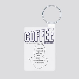 Coffee: Breakfast of Geniu Aluminum Photo Keychain