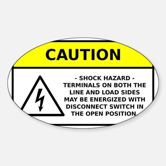 Solar PV AC Disconnect Warning Sticker (Oval)
