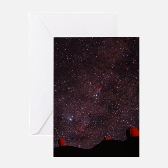 Composite image of Halley's Comet Greeting Card