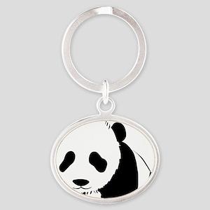 Panda Bear Oval Keychain