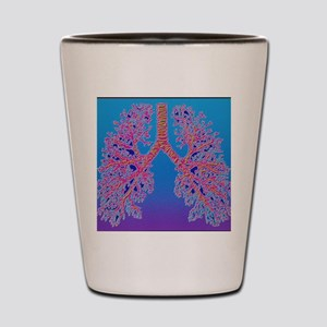 Computer art of human lung trachea Shot Glass