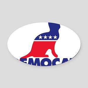 Democat Oval Car Magnet