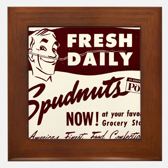 SPUDNUTS Fresh Daily Framed Tile