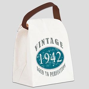 1942 Vintage Blue Canvas Lunch Bag