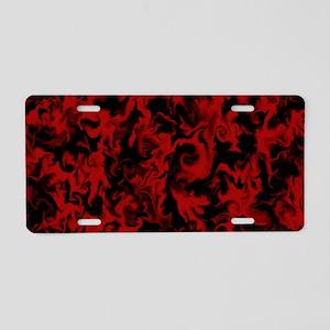 Dark Red Aluminum License Plate