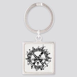 Critical Mass Square Keychain